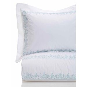 King Embroidered Duvet Set in Baby's Breath